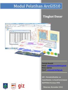 Module ArcGIS 10 Dasar - Frontcover