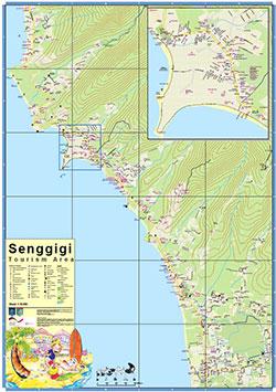 Peta Wilayah Wisata Senggigi