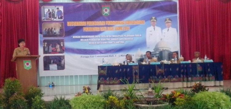 Kabid Statistik di Pembukaan Musrenbang Kota Bima