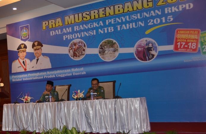 Pembukaan Pra Musrenbang Pulau Lombok