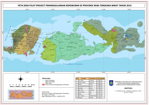 Peta 100 Desa Prioritas Percepatan Penanggulangan Kemisikinan Provinsi NTB 2019 dan Perencanaan Tahun 2020