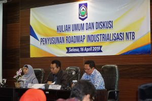 Kuliah Umum dan Diskusi Penyusunan Roadmap Industrialisasi di Provinsi NTB