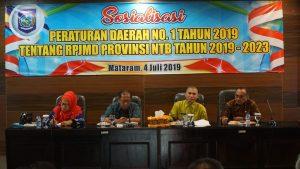 Sosialisasi RPJMD Provinsi NTB Tahun 2019-2023